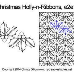 Christmas Holly n Ribbons