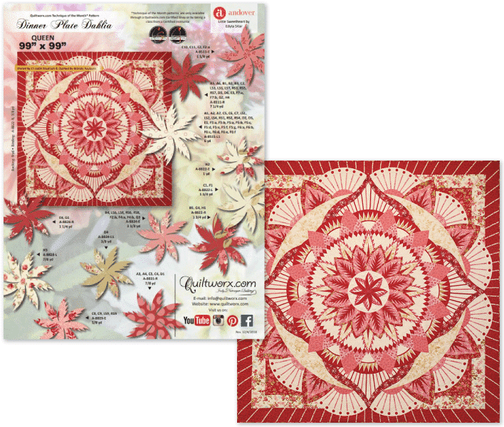 Dinner Plate Dahlia by Quiltworx